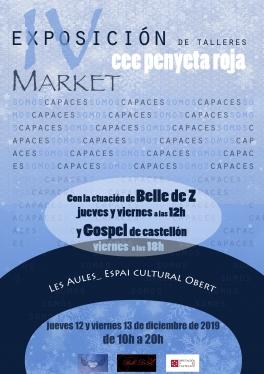 Exposición y Market de los talleres del CEE Penyeta Roja