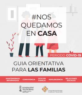 Guía orientativa para las familias 'Nos quedamos en casa'