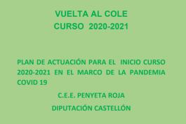 Plan de actuación inicio de curso 20-21