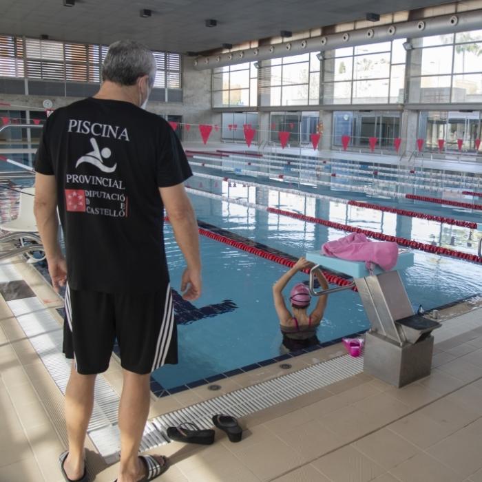 La Diputación de Castellón reabre las instalaciones de la Piscina Provincial con todas las garantías de higiene y seguridad para usuarios y trabajadores