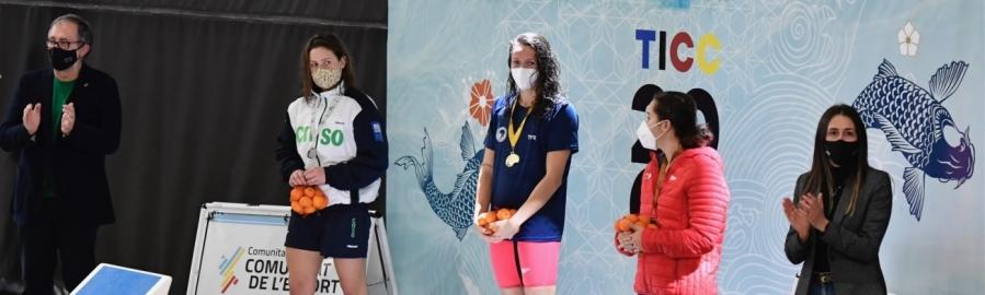 José Martí y Tania Baños animan al Equipo Nacional de Natación en el Trofeo Internacional Castalia Castellón en su primera cita para lograr las mínimas de Tokio 2020